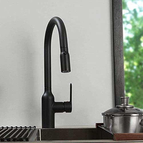 QUERT kitchen Taps Faucet Kitchen Mixer Tap,Dual FunctioKitchen Faucet Pull Out Tap Head MetaKitchen Sink Water Mixer