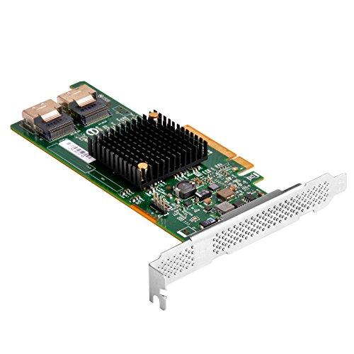 SilverStone SST-ECS04 - PCI-E Erweiterungskarte auf Serverniveau Gen 3.0 x8, 8x SAS / SATA (6Gb/s) Ports mit LSISAS2308 Controller, unterstützt RAID 0,1,1E,10, low-profile geeignet
