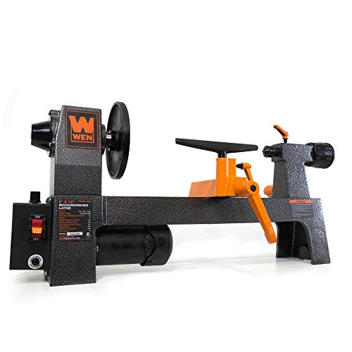 Check Out This 12-Inch 750 to 3200 Rotations per Minute Variable Speed Benchtop Wood Lathe