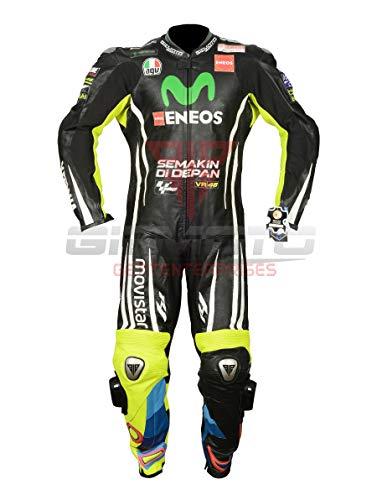 Vali Rossi Moto Racing Uomo Donna 100% Pelle Originale CE Approvato Tuta Protettiva (2XL)