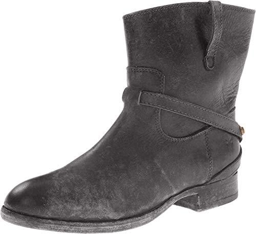 Frye Lindsay Plate Short–Botas de caña baja para mujer., negro (Negro Stone Antiqued), 7.5 B(M) US