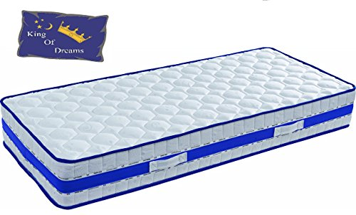 King of Dreams LATTEX Blue colchón Espuma Poli LATTEX indeformable – Altura 29 cm – Apoyo Muy Granja – Face...