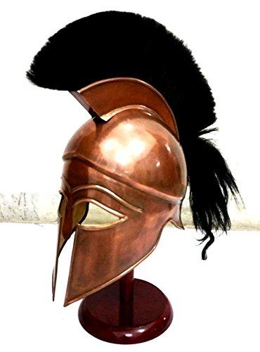 Mittelalterlicher griechischer Spartanischer korinthischer Helm mit schwarzer Plume antike Panzerhelm Replik