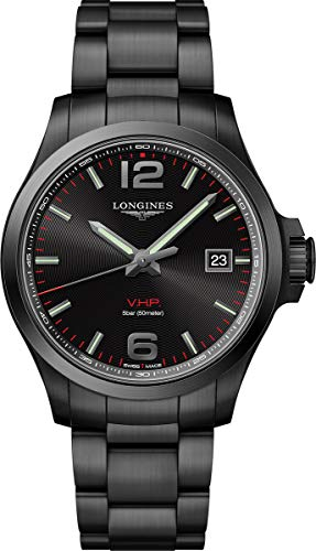 Longines Conquest V.H.P. Reloj para hombre con esfera negra L37262566