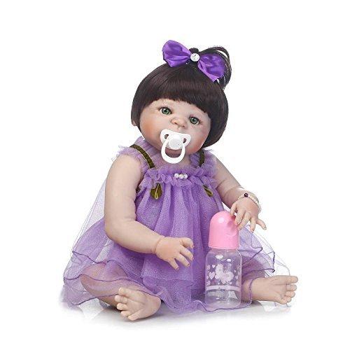 GAOFQ Muñeca Reborn de Silicona Completa, Juguetes de 22 Pulgadas, 55 cm, Princesa recién Nacida, bebés, niñas, muñecas, Juguete de baño, Regalo de Moda