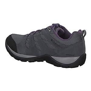 Columbia Women's Redmond V2 Waterproof Hiking Shoe, ti Grey Steel, Plum Purple, 9 Regular US