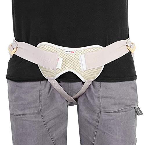 SUSHOP Cinturón de Hernia inguinal, pre/Post-cirugía Ayuda a Reducir los síntomas de Agotamiento Extremo y Esfuerzo, Las Hernias inguinales bilaterales con Almohadillas de compresión - Unisex,M