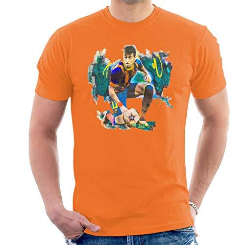 VINTRO Neymar Barcelona F.C. - Camiseta para hombre, diseño de Neymar Barcelona...