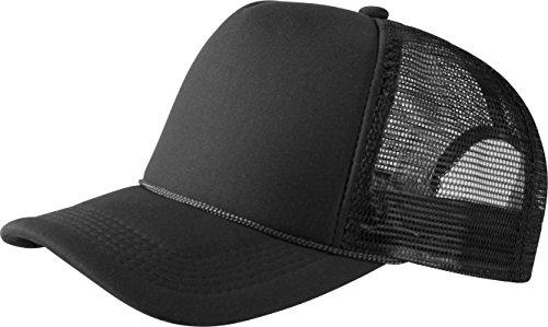 MSTRDS Herren Trucker high Profile Baseball Cap, Schwarz (Black 1023,1733), One Size