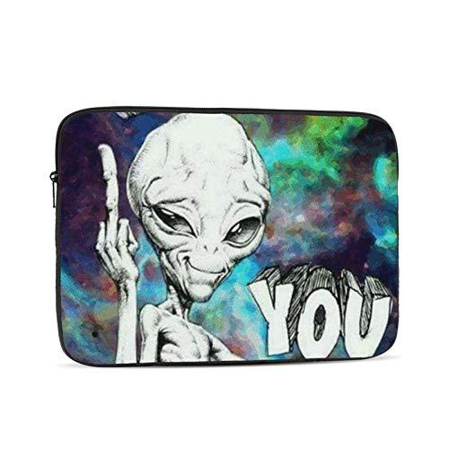 YTUTRfb Alien Say Fuk You 13 Inch Zipper Laptop Sleeve Bag - Alien Say Fuk You Carring Case Cover Protector Handbag for MacBook/Notebook/Ultrabook
