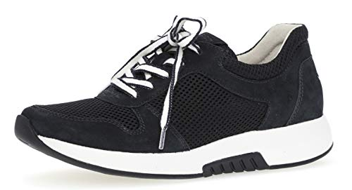 Gabor 26.946 Damen Sneaker,Low-Top Sneaker, Frauen,Halbschuh,Sportschuh,Schnürschuh,atmungsaktiv,Optifit- Wechselfußbett,Nightblue,6.5 UK