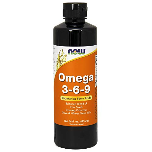 NOW Supplements, Omega 3-6-9 with a balanced blend of Flax Seed, Evening Primrose, Olive and Wheat Germ Oils, 16-Ounce