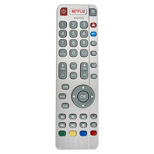 VINABTY SHWRMC0116 SHW/RMC / 0116 RF-Fernbedienung Aquos Kompatibel mit Sharp TV LC32CHG6021K LC-49CUG8052K LC-49CUG8362K LC-32CHG6021K LC32CHG6021KF LC40CFG6021KF LC49CFG6242KF LC3221KF