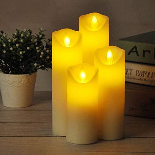 MHMT Velas LED Realistas, Velas Falsas Parpadeantes Eléctricas Sin Llama con Pilas LED Tea Light