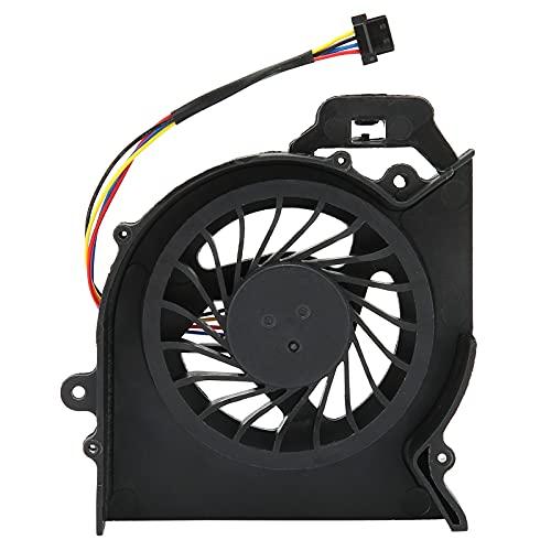 Ventiladores de PC, ABS 4-Pin DC 5V / 0.28-0.5A Refrigerador de aire de CPU de disipación de calor fuerte negro, Refrigerador de radiador de computadora duradero compatible con computadoras portátiles