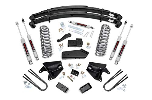 Rough Country 6' Lift Kit (fits) 1980-1996 F150 Bronco 4WD N3 Steering Stabilizer and Shocks Suspension System 525.20