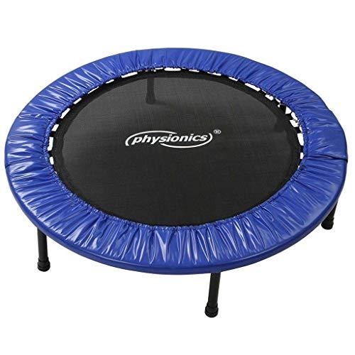 Physionics® Mini Trampoline de Fitness - Diamètre au Choix (Ø 81/91/96/102/114/122 cm), Pieds Antidérapants, Usage Intérieur/Extérieur - Trampoline de Gymnastique, Entraînement, Jumping