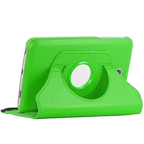 ebestStar - kompatibel mit Samsung Galaxy Tab 3 7.0 Hülle SM-T210, GT-P3210 P3200 Rotierend Schutzhülle Etui, Schutz Hülle Ständer, Rotating Case Cover Stand, Grün [Tab: 188 x 111.1 x 9.9mm, 7.0'']
