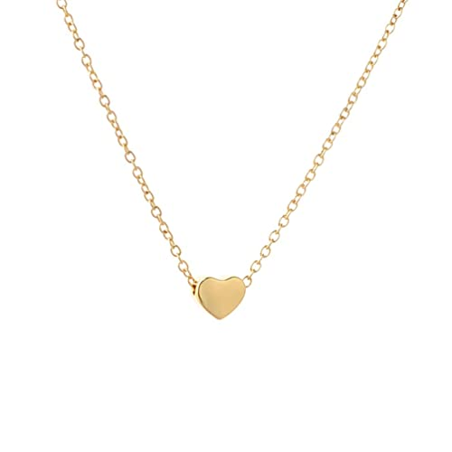 14K Solid Yellow Gold Small Heart Love Charm Pendant