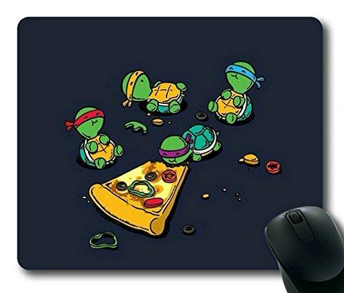 Teenage Mutant Ninja Turtles TMNT Eating Pizza Gaming Mouse Pad,Rectangle Mouse Pad