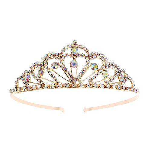 Cristal de chispa Colorido Piedras del Strass Tiara Corona Peine Diamante Princesa...