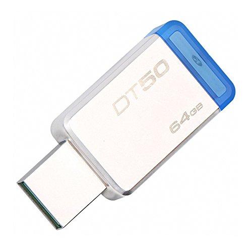 Festnight Kingston DataTraveler Pen drive de armazenamento Memory Stick 50 64GB USB3.1 Flash Drive U disco externo (64GB)