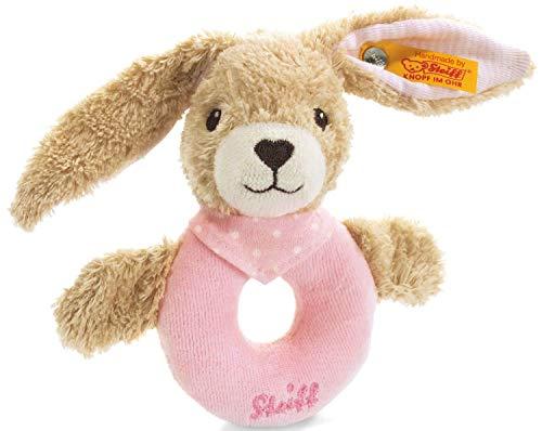 Steiff 237591 Hoppel Greifring 12 rosa Hase
