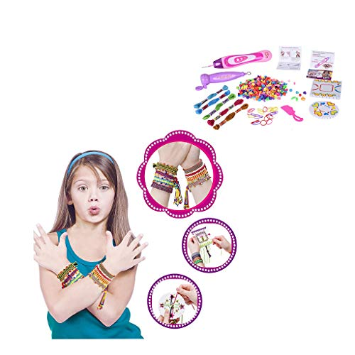 Fine DIY Jewelry Making Kit,Hand-Make Necklaces Letter Beads, Colorful, 3 in 1 Fashion Handicraft and Bracelets Making Kit for Girl (Multicolor)