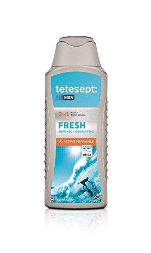 tetesept for men Duschbad Fresh, (5 x 250 ml)