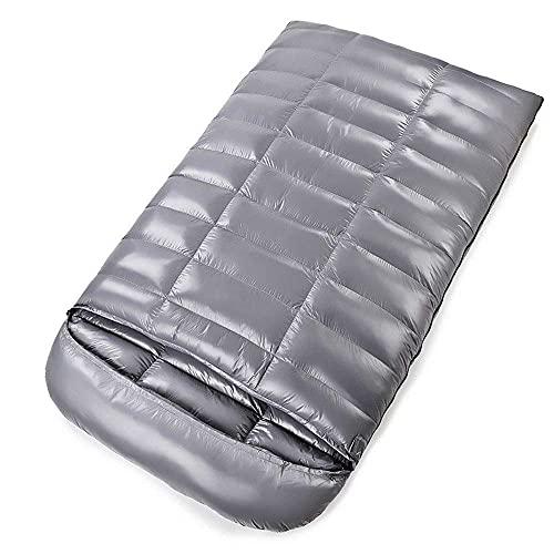 Saco de Dormir Doble, 0 ℃ * -10 ℃ / 32 & deg; F-14 & deg; F Saco de Dormir de plumón, Ideal para Acampar en Coche, mochileros y Acampar en Pareja, Ligero, Resistente al Agua