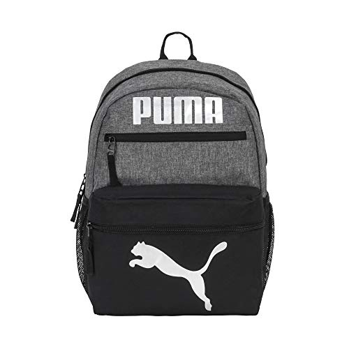 PUMA Kids' Meridian 4.0 Backpack, Grey/Multi, Youth Size