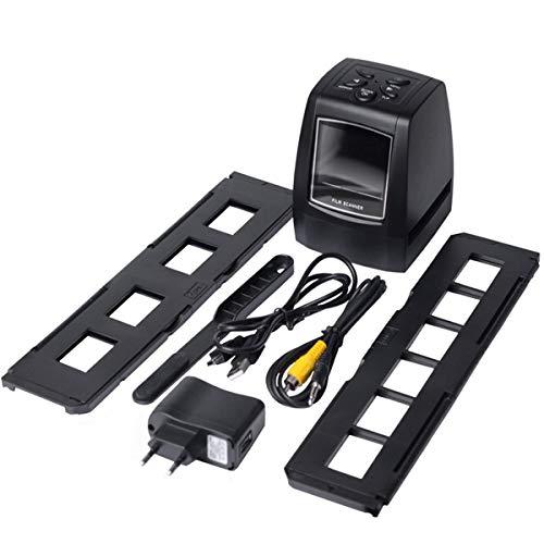 Wolfberrymetal Escáner fotográfico de Alta resolución Escáner de película de Diapositivas de 35/135 Mm Convertidor de película Digital 2.36Lcd (Negro)