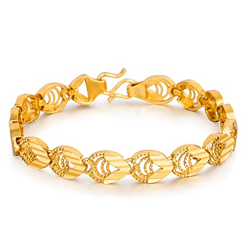 Druppelvormige dameshorloge ketting met eenvoudige uitsnijding van kopergecoat gouden sieraad