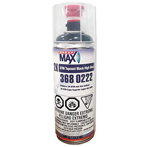 SprayMax 3680222, DTM Topcoat Black High Gloss