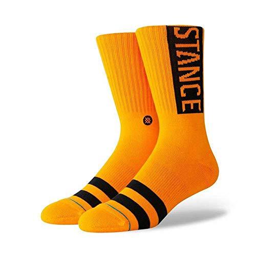 Stance OG Socken Chaussettes Homme, Tangerine, L