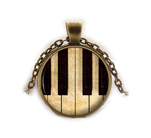Beautiful Dandelion Piano Anhänger Musik Lovers Halskette Musical Jewelry