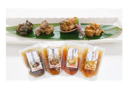 お中元に!4種の煮貝が楽しめる あわび・帆立・つぶ貝・やわらか煮貝が入った【煮貝詰合せ】