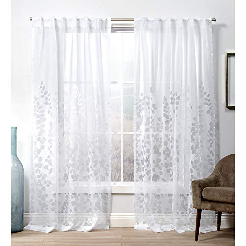 Exclusive Home Curtains EH8433-01 2-84H Wilshire Hidden Tab Top Curtain Panel, 54x84, Winter White, 2 Panels