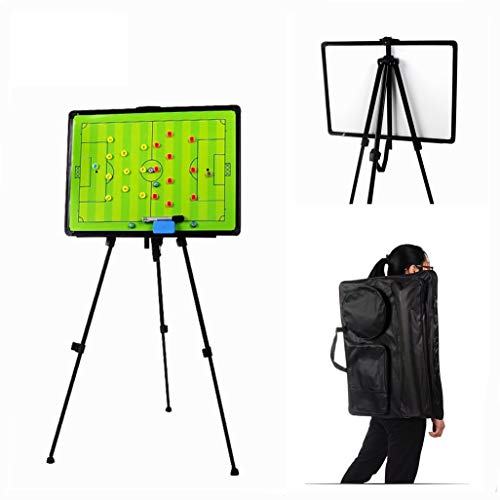 MUUZONING Football Tactics Folder, Durable Tactical Board Football Coach Board Coach Folder for Professional Football Trainers with Magnets, Pens Eraser, Bag and Stand, Good Piece of Equipment#16