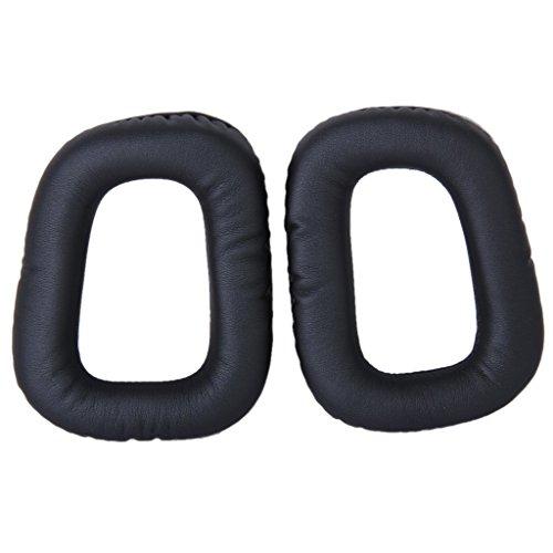 Yizhet 1 Paire Remplacement Coussinets d'oreille pour Logitech G430 G35 G930 F450 Coussinets d' Oreille de Rechange en Mousse de Mémoire (Noire, G430 G35 G930 F450)
