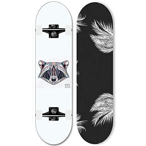 31-Zoll-Standard-Skateboard, 7-stöckiges High-End-Deck mit ABEC-11-Lagern für Anfänger Getränkspezialitäten (YX-26)-Ds._