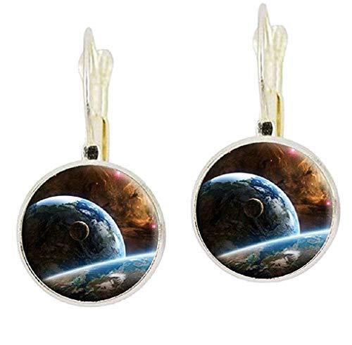 Pendientes de mujer – niña – Galaxia – Via Lattea – Universo – Planetas – Estrellas – Astronomía – Idea regalo cumpleaños Navidad – Idea de regalo