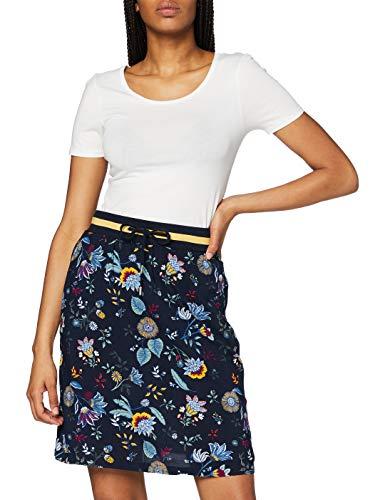 Cecil Damen 360648 TOS Flower Skirt Rock, deep Blue, Medium