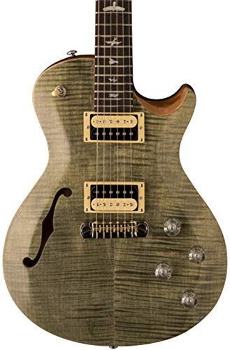 PRS Paul Reed Smith SE Zach Myers Semi-Hollow Body Electric Guitar with Gig Bag, Trampas Green