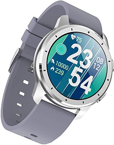 Reloj inteligente ip68 impermeable bluetooth fitness tracker, actividad tracker pulsera inteligente con podómetro despertador-gris