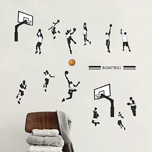 Persönlichkeit Kreatives Basketballspielen Slam Dunk Sports College Studenten Schlafsaal Futter Schlafzimmer Schlafzimmer Tapete Selbstklebende Wandaufkleber