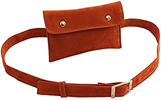 TOOGOO Casual Scrub Leather Flap Waist Bag Women Fanny Packs Ladies Shoulder Crossbody Messenger Bags Chest Pouch Handbags Brown