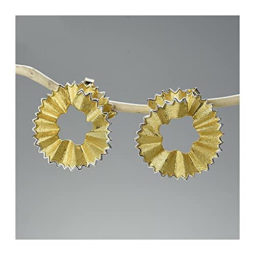 GDYJP Aretes de virutas de diseño de lápiz Creativo Pendientes de Oro Plata de Oro for Mujeres Regalo joyería Fina (Color : A, Tamaño : One Size)