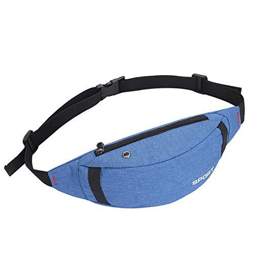 Riñonera Unisex De Viaje para Hombre y Mujer, Cartera De Cintura Ligera Cómoda para Viajes Senderismo Running Acampada - Azul
