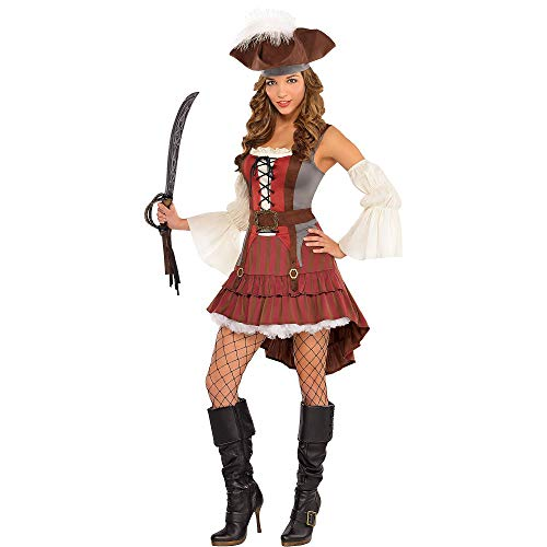 Amscan International - Costume da pirata, da donna, taglia 46/48